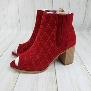 *NEW* JC Henley Quilted Open Toe Ankle Boot